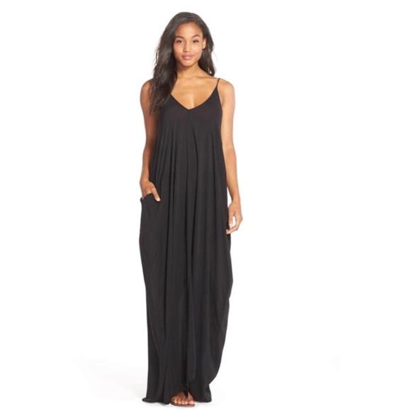 a1bbcc78ce Elan Other - [Elan] Black plus size maxi v back swim cover up